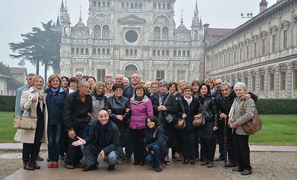 Foto di gruppo gita a Pavia